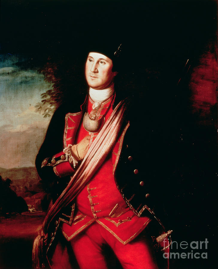 Portrait Painting - Portrait Of George Washington by Charles Willson Peale