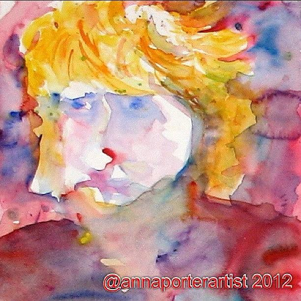 Watercolor Painting - Portrait Of Graham by Anna Porter