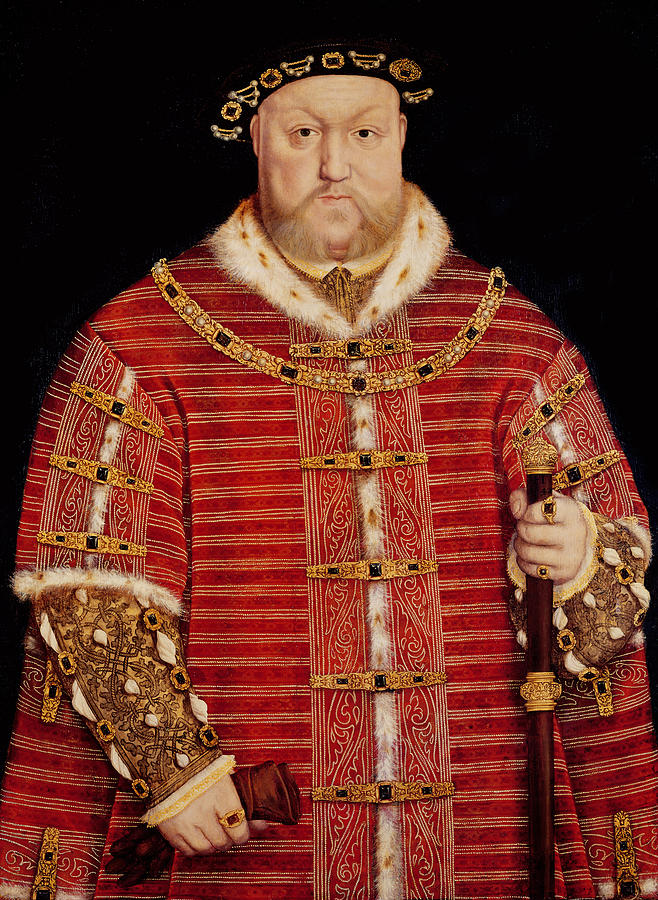 Henry Painting - Portrait Of Henry Viii by Hans Holbein the Younger