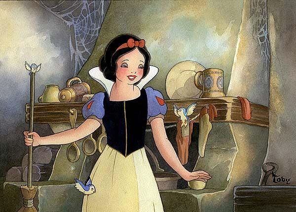 Snow White Print - Portrait Of Innocence by Toby Bluth