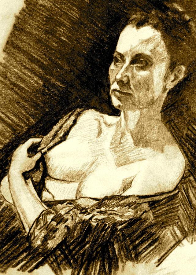 Portrait Painting - Portrait Of Jacqueline by Dan Earle