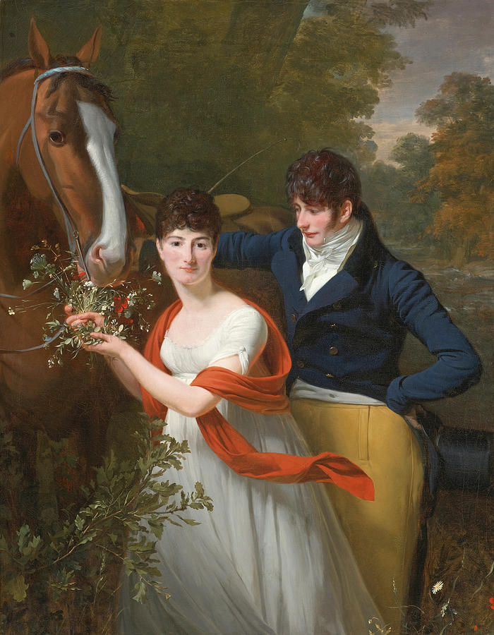 Henri-pierre Danloux Painting - Portrait Of Jean-louis Gustave Dhautefort And His Sister Marie-therese-thais Dhautefort by Henri-Pierre Danloux