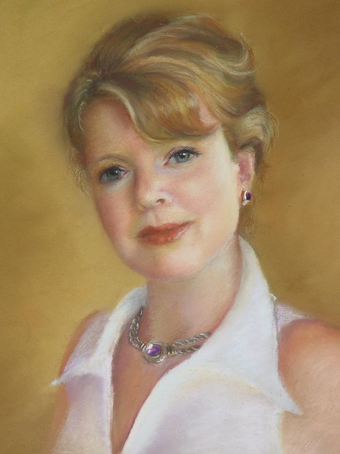 Portrait Of Jeanie Painting by Melanie Miller Longshore