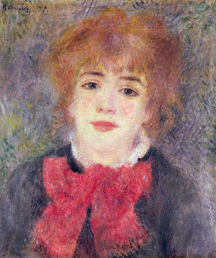 Portrait Painting - Portrait Of Jeanne Samary by Renoir