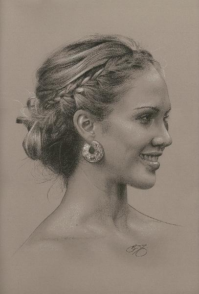 Jessica Painting - Portrait Of Jessica by Brian Duey