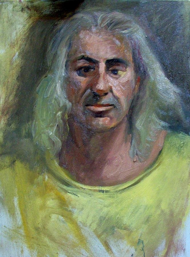 Portraits. Painting - Portrait Of John The Pittore by George Siaba