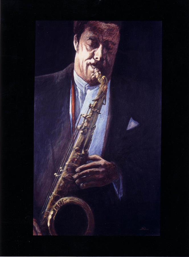 Portrait Painting - Portrait Of Johnny Griffin by James LeGros