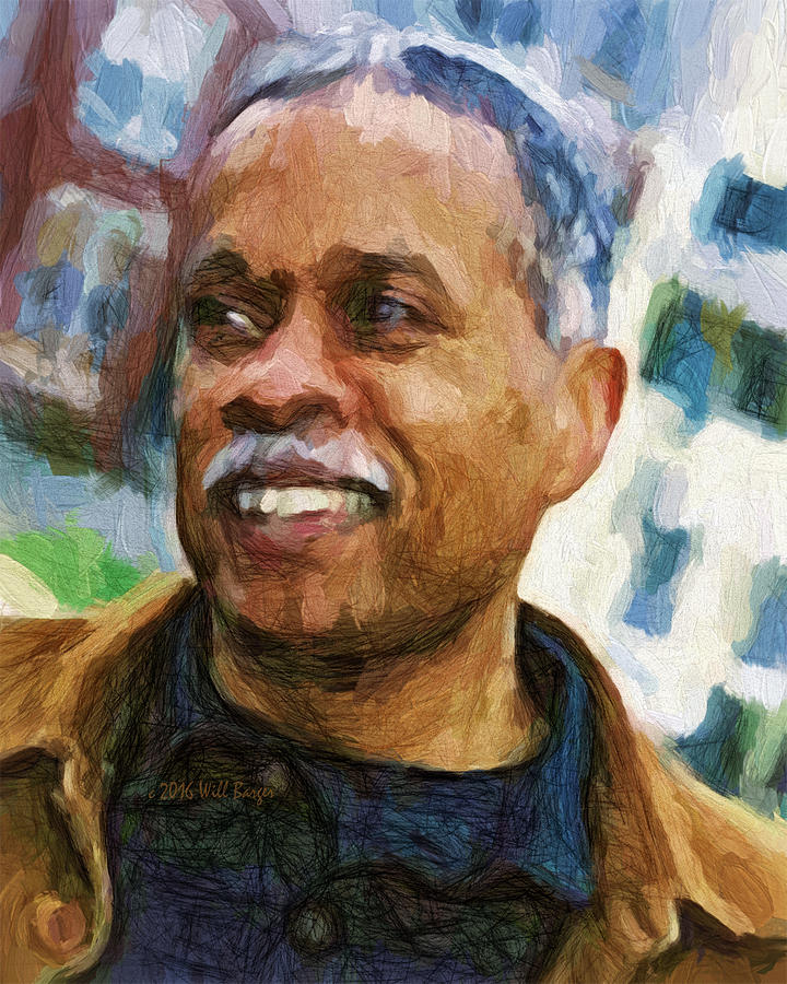 Portrait of Juan Williams, Nbr. 10 by Will Barger