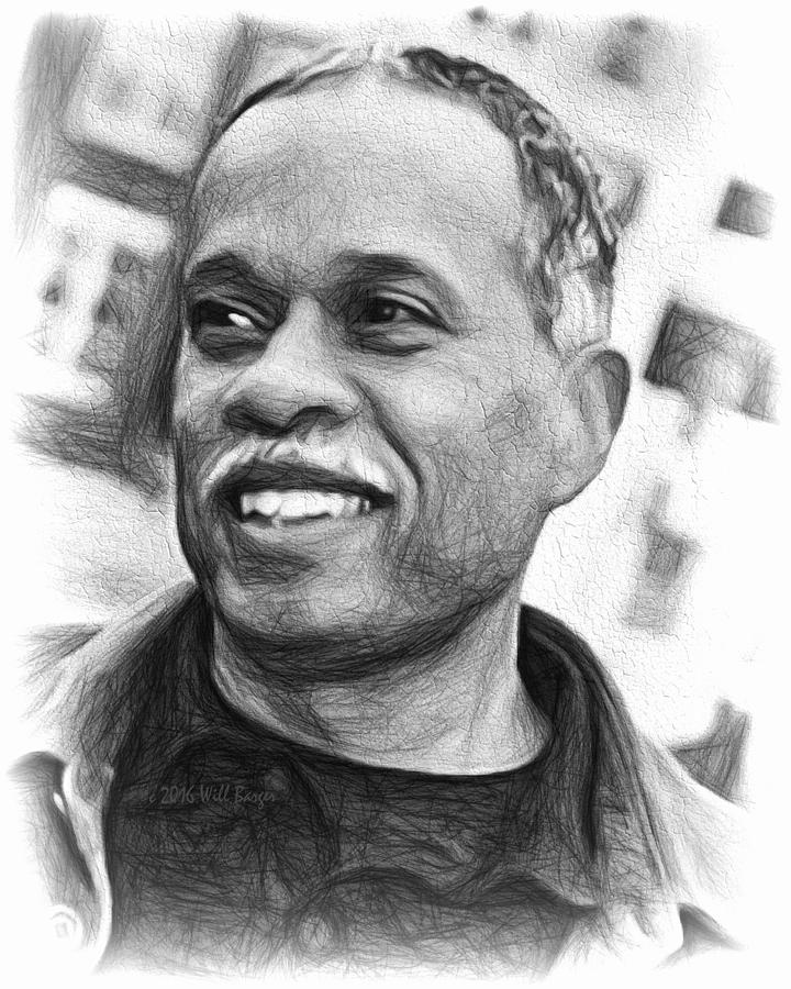 Portrait of Juan Williams, Nbr. 24 by Will Barger