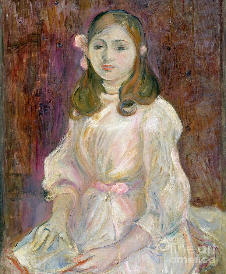 Portrait Painting - Portrait Of Julie Manet by Berthe Morisot