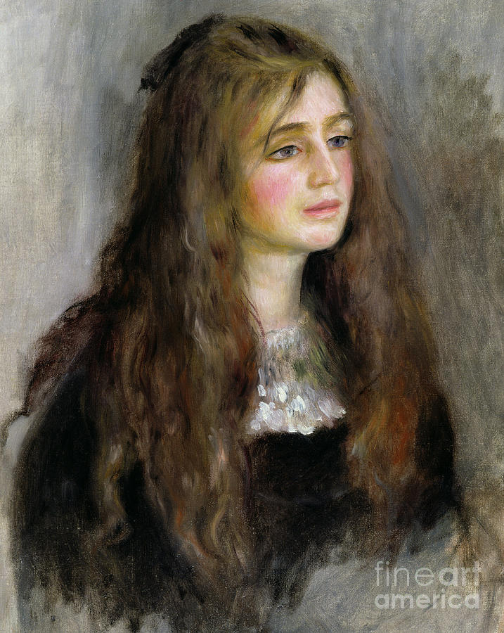 Pierre Auguste Renoir Painting - Portrait Of Julie Manet  by Pierre Auguste Renoir
