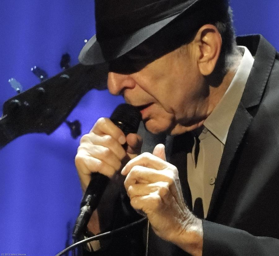 Portrait Photograph - Portrait Of Leonard Cohen In Concert by John C Bourne