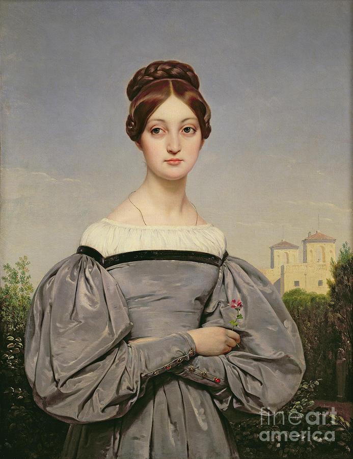 Portrait Painting - Portrait Of Louise Vernet by Emile Jean Horace Vernet