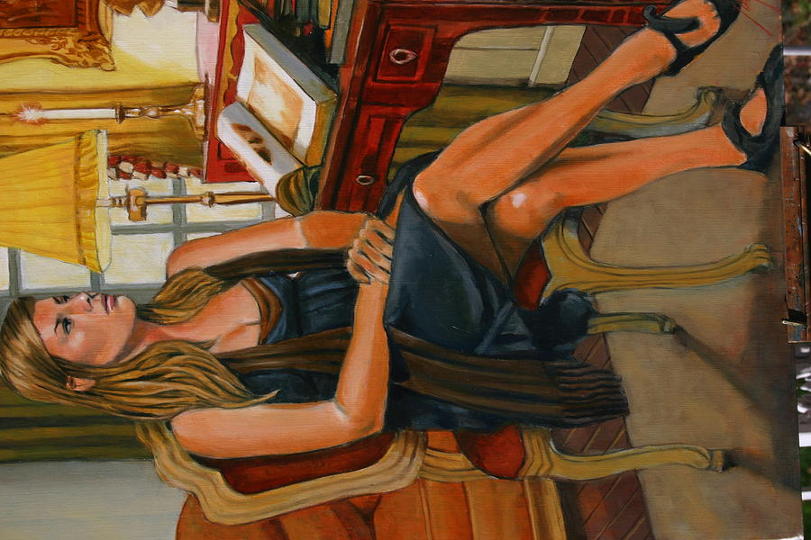 Portrait Of Lydia Painting by Joe Jaqua