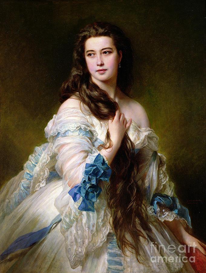 Portrait Painting - Portrait Of Madame Rimsky Korsakov by Franz Xaver Winterhalter