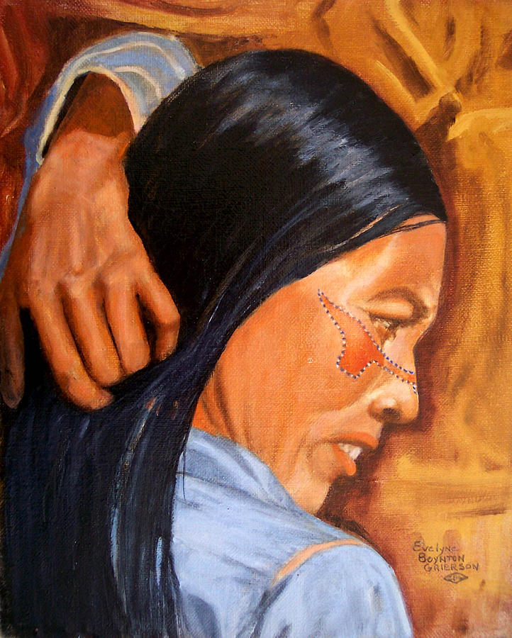 Indians Painting - Portrait Of Maria A Seri Indian by Evelyne Boynton Grierson