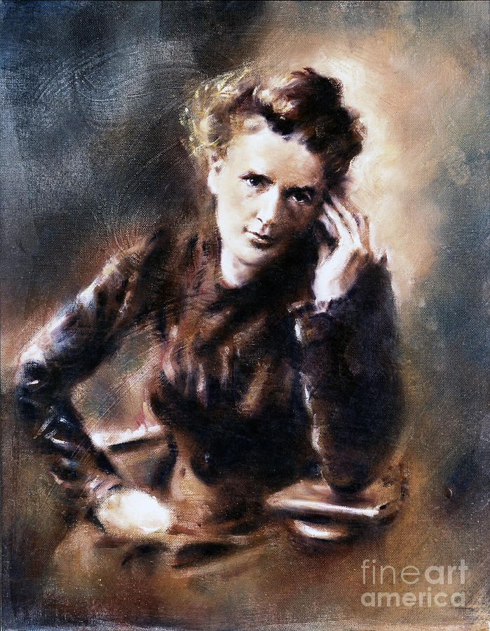 Portrait of Marie Curie by Ritchard Rodriguez