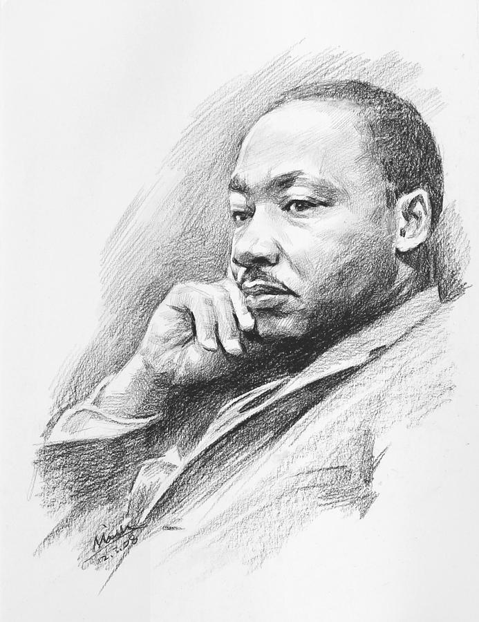 It is a graphic of Selective Martin Luther King Drawing