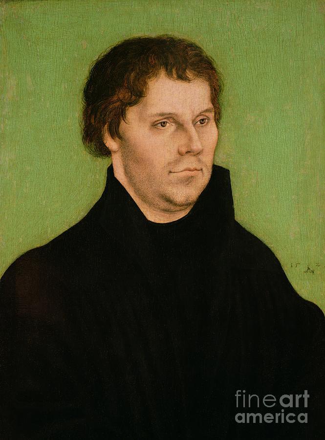 Portrait Painting - Portrait Of Martin Luther by Lucas Cranach the Elder