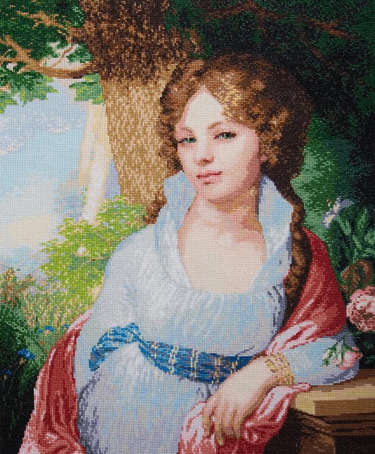Portrait Of M.i. Lopukhina Tapestry - Textile by Elena Soldatkina