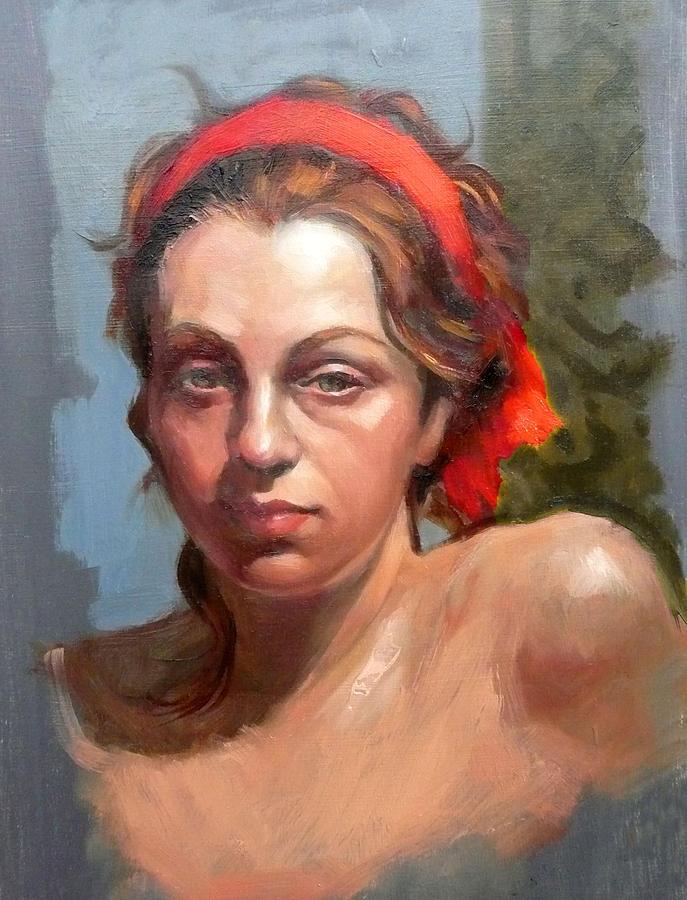 Portrait Painting - Portrait Of Phoebe by Roz McQuillan