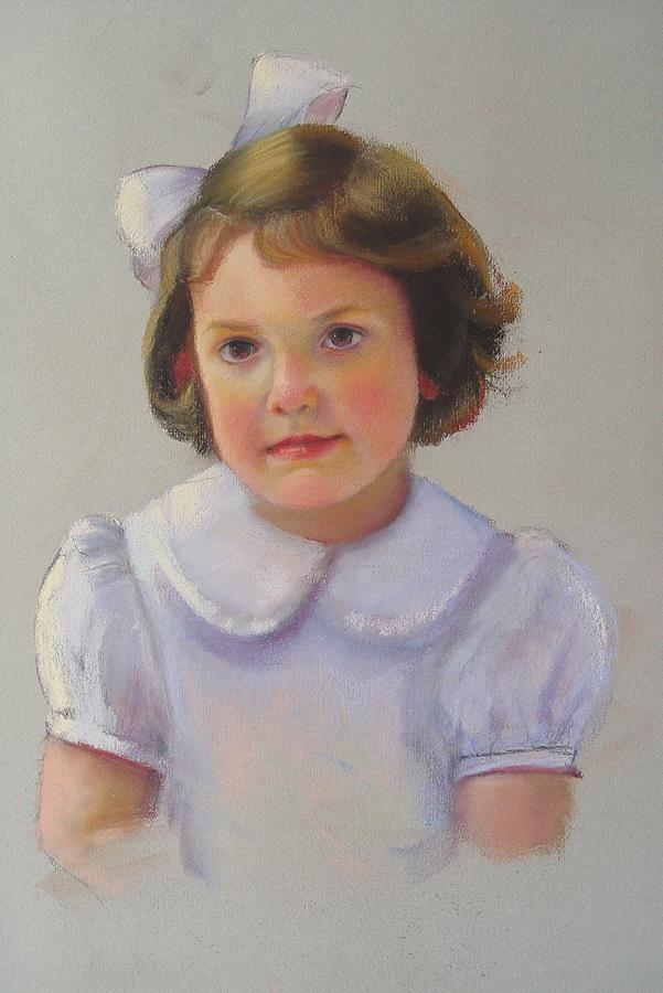 Portrait Of Girl Painting - Portrait Of Polly by Melanie Miller Longshore