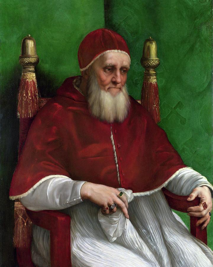Raphael Painting - Portrait Of Pope Julius II - 1511 by Raphael