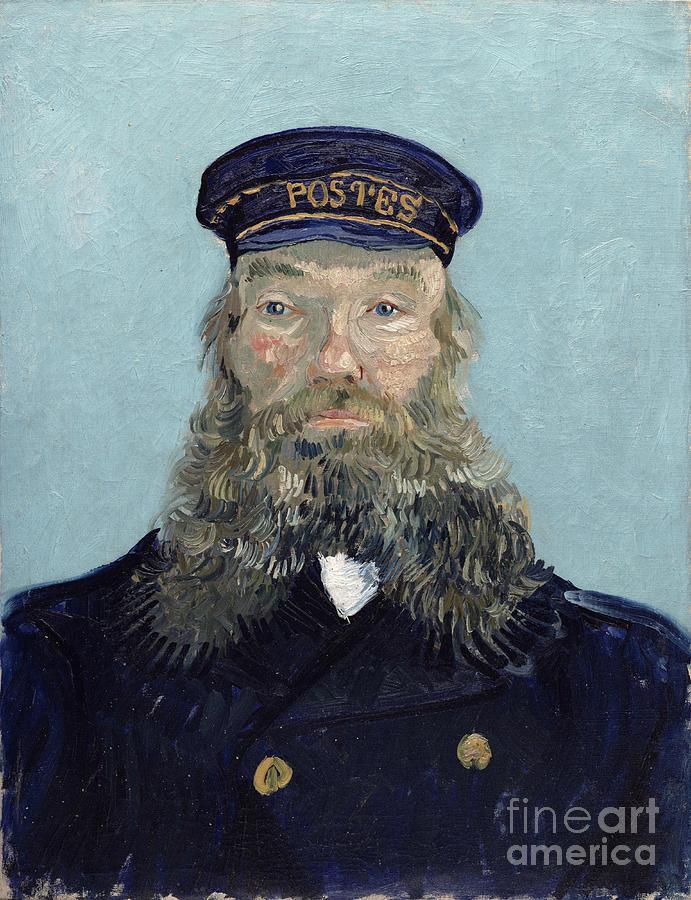 Portrait Photograph - Portrait Of Postman Roulin by Vincent van Gogh