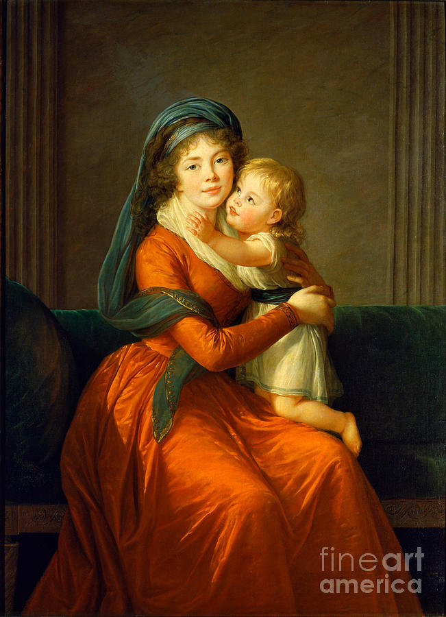 1794 Painting - Portrait Of Princess Alexandra Golitsyna And Her Son Piotr by Celestial Images