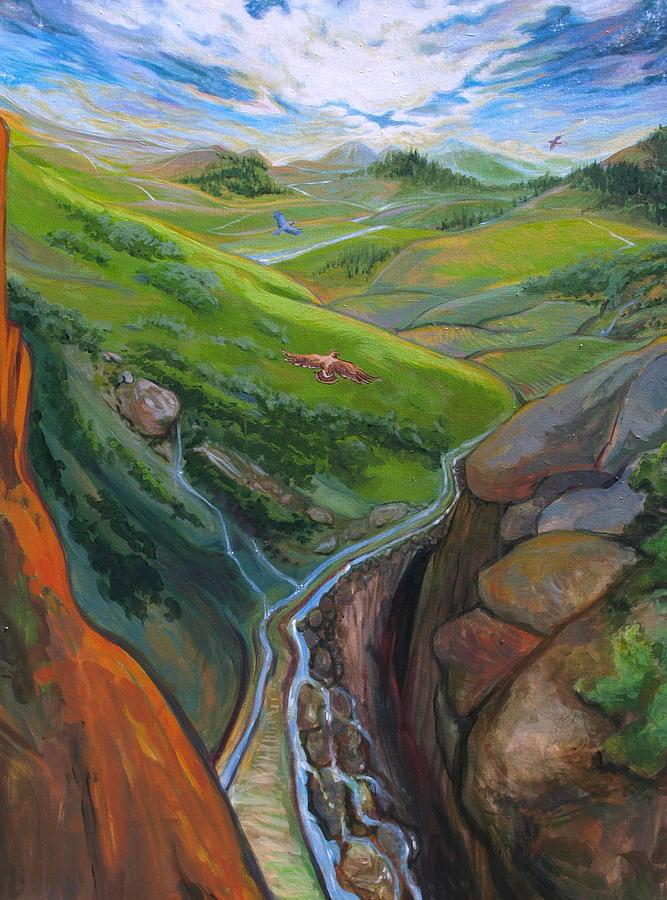 Landscape Painting - Portrait Of Psalms by Jill Iversen