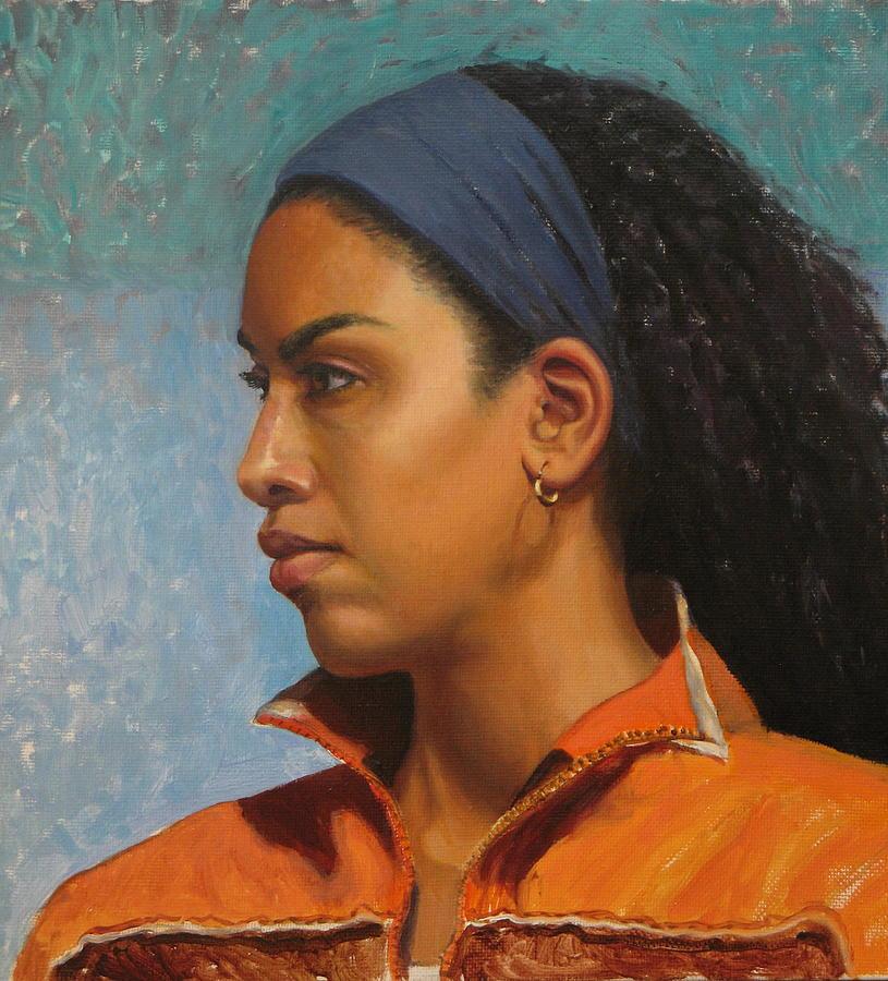 Portrait Painting - Portrait Of Rachel by Moira Dedrick