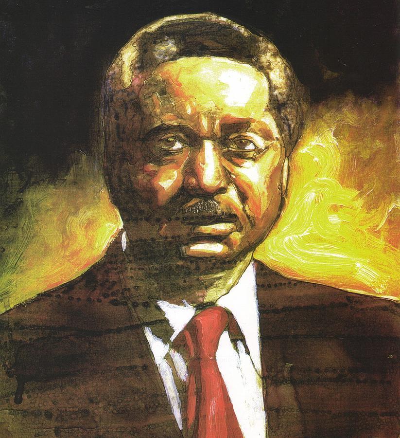 Portrait Painting - Portrait Of Rev. Leon Sullivan by Michael Facey