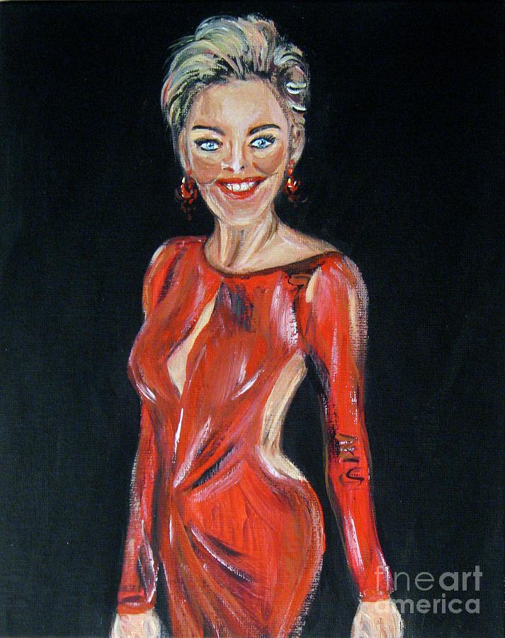 Portrait of Sharon Stone by Oksana Semenchenko