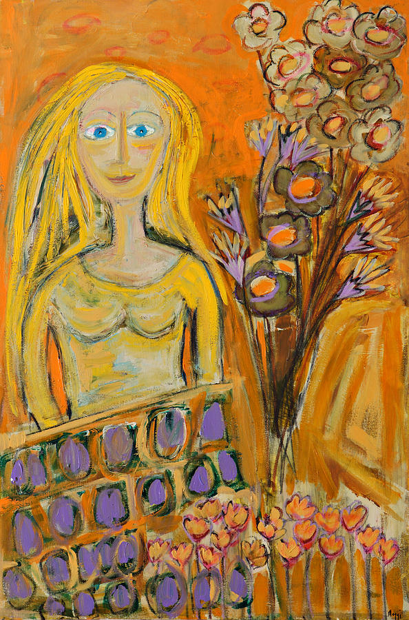 Portrait Painting - Portrait Of Sunshine Girl by Maggis Art