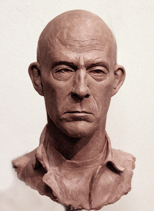 Portrait Of Terry Sculpture by Opoku Acheampong