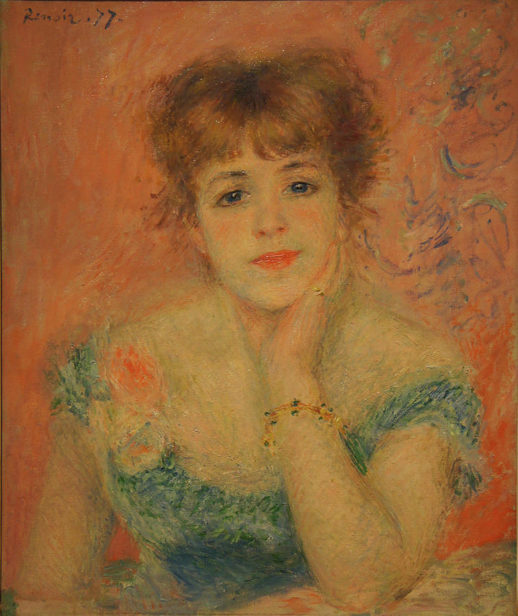 Jeanne Samary Painting - Portrait Of The Actress Jeanne Samary by Pierre Auguste Renoir
