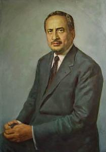 Saudi Arabia Painting - Portrait Of The Council Of Minister In Saudi Arabia  by Lee Li