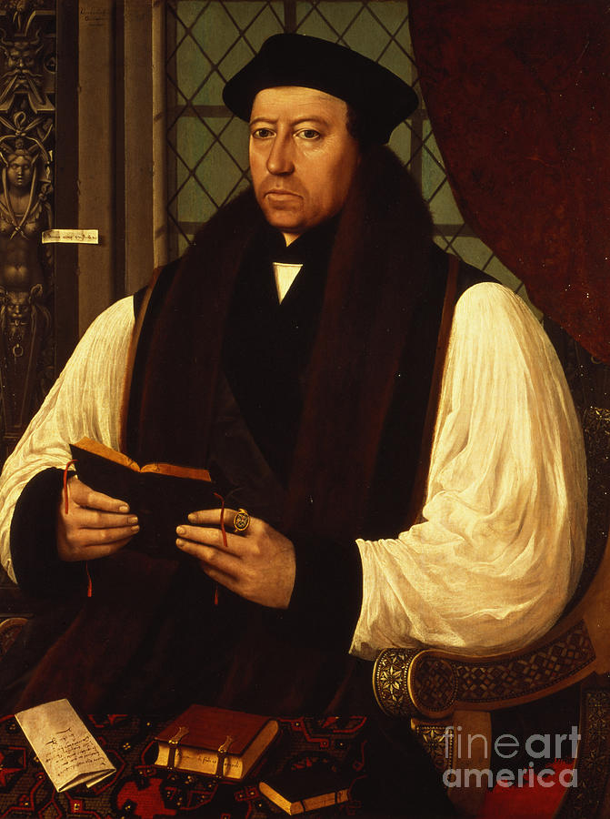 Portrait Painting - Portrait Of Thomas Cranmer by Gerlach Flicke