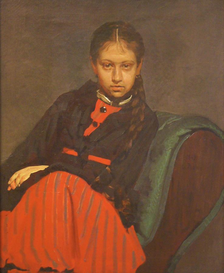 Russian Artist Painting - Portrait Of Vera Shevtsova by Ilya Repin