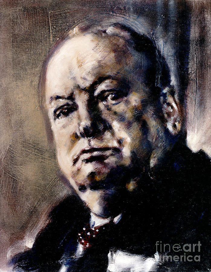 Portrait of Winston Churchill by Ritchard Rodriguez
