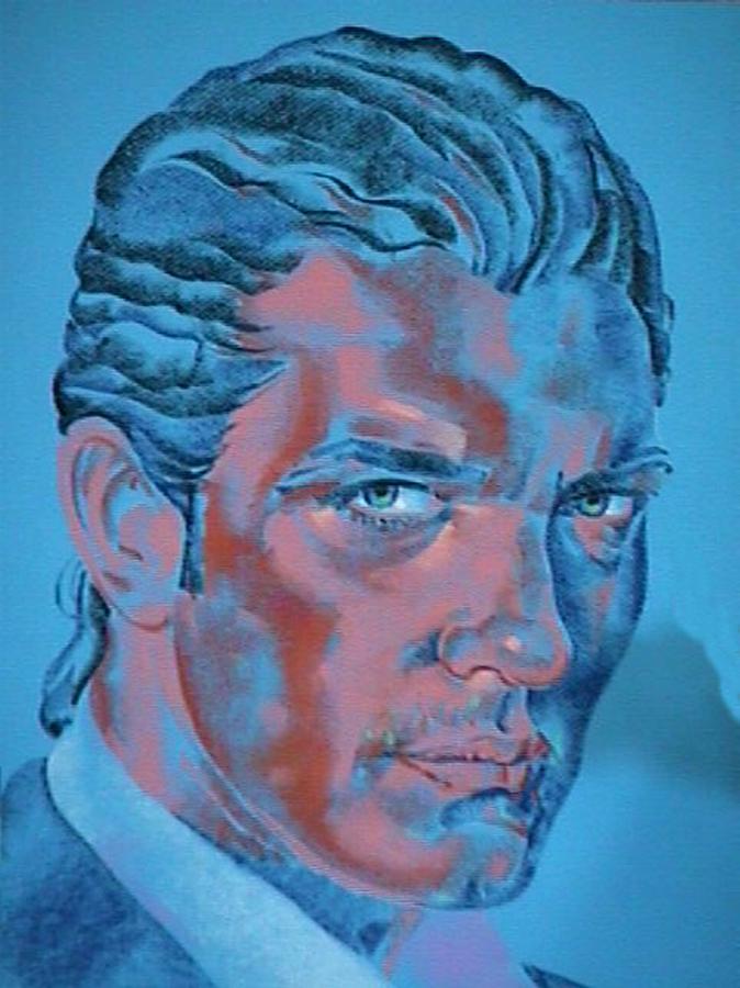 Portrait Painting - Portrait of young Antonio Banderas by Janine Shideler