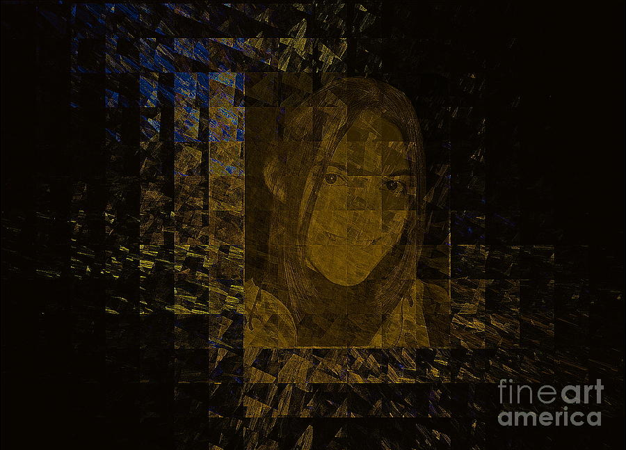 Portrait Mixed Media - Portrait Reflection From Fresnel Prisms by Viktor Savchenko