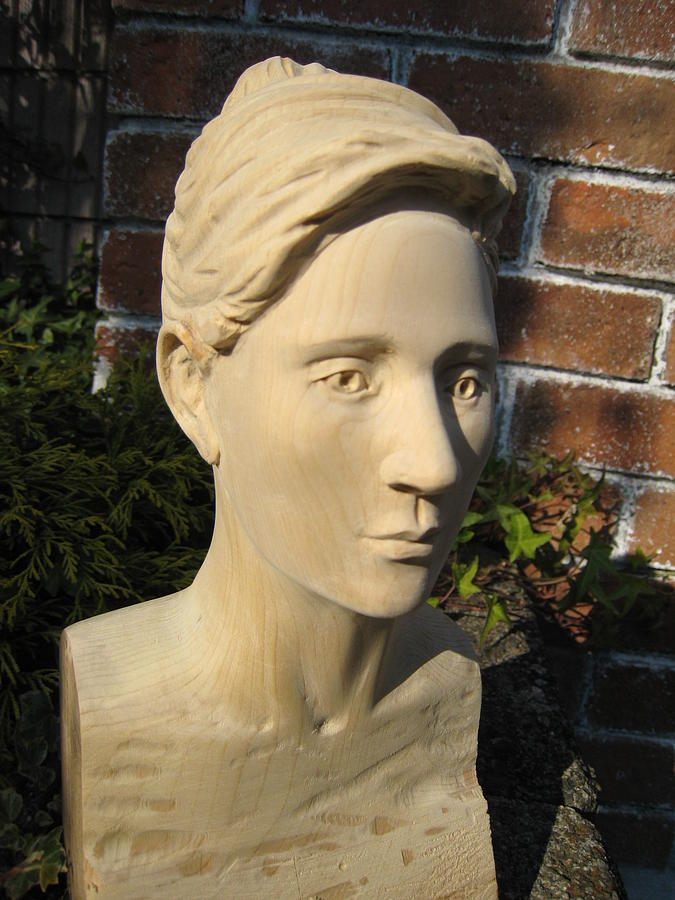 Carving Sculpture - Portrait-style Bust by Braven Smillie
