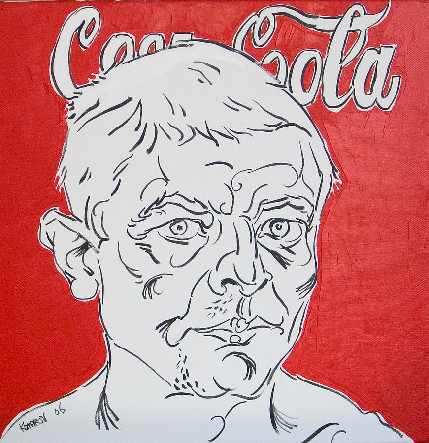 Coca Cola Painting - Portrait With Coca Cola by Vitali Komarov