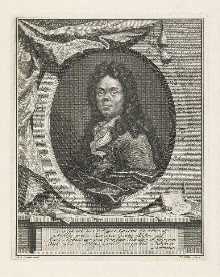 Portret Van Gerard De Lairesse, Jan Philips Caspar, After Gerard De  Lairesse, 1736 - 1775 by Gerard de Lairesse