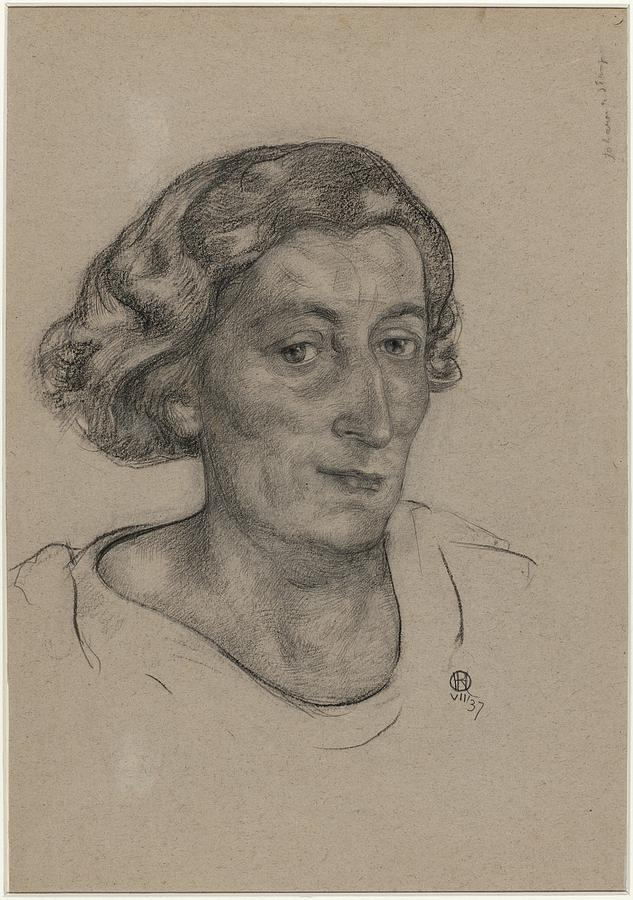 Portret Van Jo Bauer Stumpff Richard Roland Holst 1937