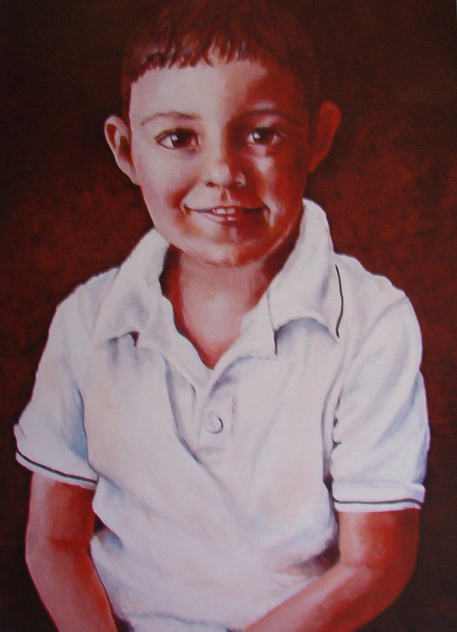 Portrait Painting - Portriat Of A Young Boy by Elisa Davis