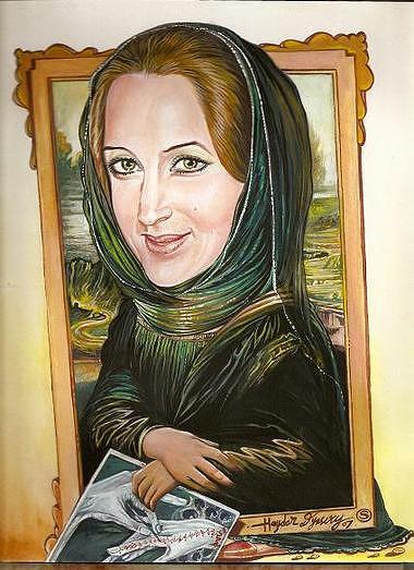 Portrit Cartons1 Painting by Haydar Al-yasiry