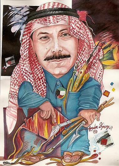 Portrit Cartons3 Painting by Haydar Al-yasiry