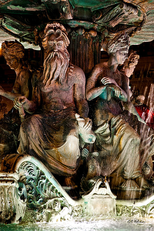 Statue Photograph - Poseidon And Friends by Christopher Holmes